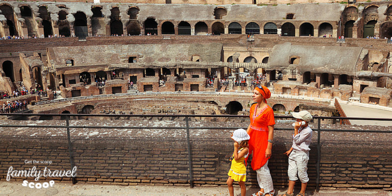 Family at Colloseum in Rome