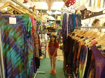 young girl in shop in Margaret River