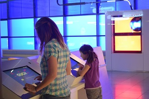 children at museum