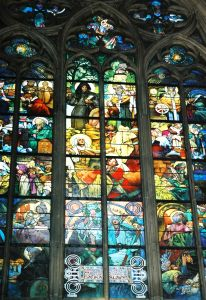 Stained glass window at St Vitrus Cathedral