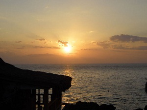 sunset in Jamaica