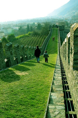 child at The Castle, Bellinzona, Switzerland