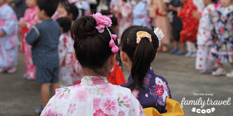girls in kimonos in japan
