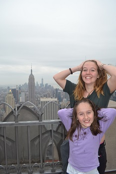 kids with view from top of the rock