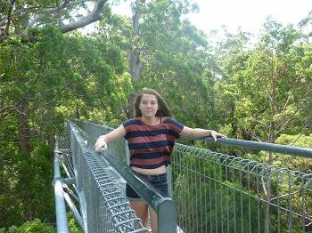 teenager on the treetop walk , denmark australi