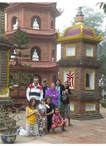 in Hanoi with famil