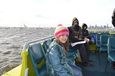 child on a mlbourne river cruise