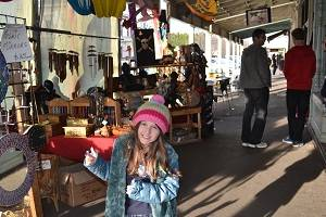 child at shops in williamstown