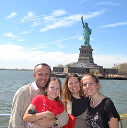 family on nyc water taxi