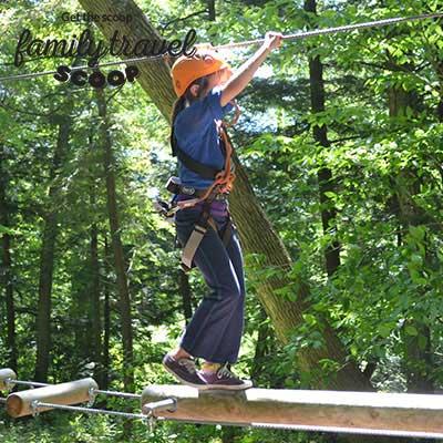 ziplining girl