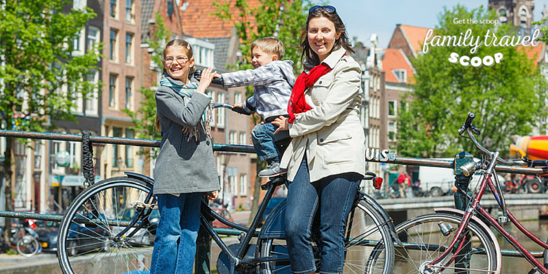 Family Bike Ride In Amsterdam