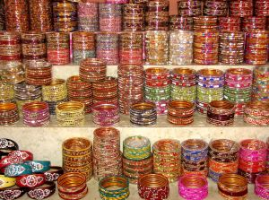 Indian bangles at the market