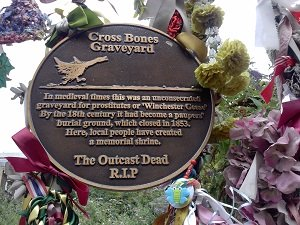 graveyard sign bankside