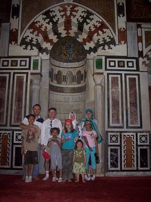 family at the mosque in Cair