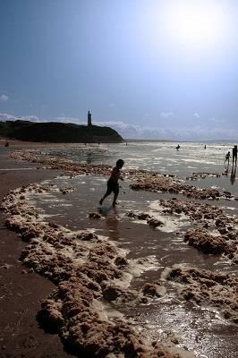 Child on Ballybunion beach, Ireland