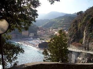 view from porto rocco, cinque terre