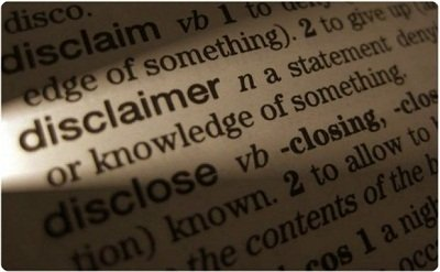disclaimer in a dictionary