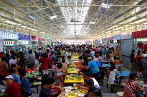 hawker stalls in Singapore