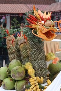 dragon made of fruit in Vietnam