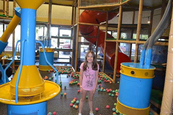 girl in ballroom at funhaven