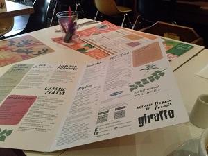 giraffe menu