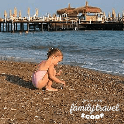 girl on the beach in turkey