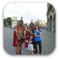 gladiators in rome with kids
