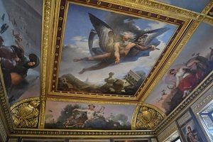 ceiling art in the louvre
