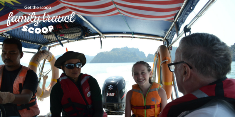 boat tour with kids in malaysia