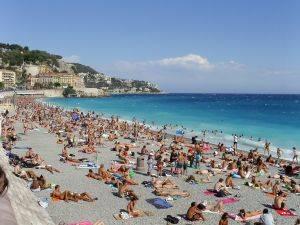 beach in Nice, Franc