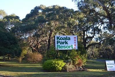 koala park reort sign