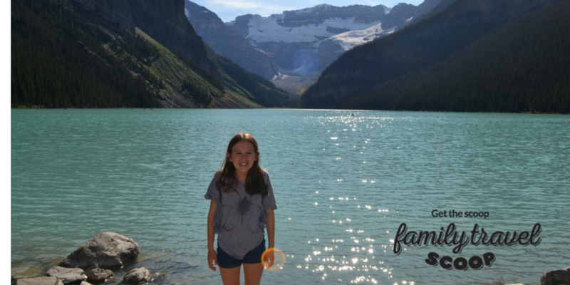 girl at the rocky mountains