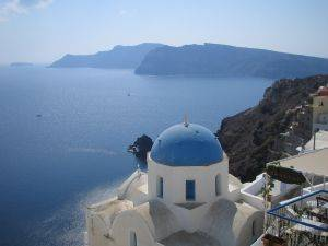 view of Santori Greece