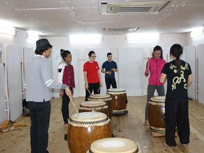 Taiko drumming lessons