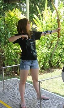 teen doing archery