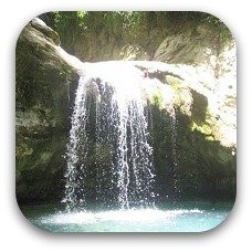 waterfall in puerto plata