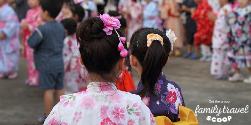 Girls in kimonos in Tokyo