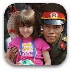child with slider in vietman