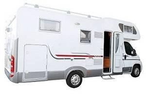 A white RV van